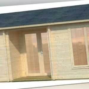 70 mm Ferienhaus Iso-Glas Gartenhaus 790x420 cm Blockhaus Holzhaus Holz Schuppen
