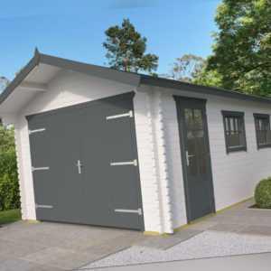 44mm Holzgarage 360x540cm + Doppeltor Garage Gartenhaus Gerätehaus Holz Holzhaus