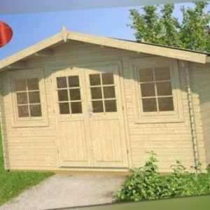 Tene Gartenhaus Nervion 400 x 300 cm Gerätehaus Gartenhütte Trapezblech Datsche