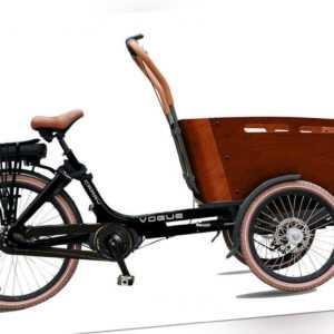 480 Wh Mittelmotor Elektro Lastenrad Vogue Carry 3 schwarz-braun 4 Sitze Neu