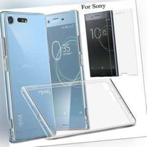 Ultra Slim Clear Gel Skin Case Cover & Tempered Glass - Xperia XZ...