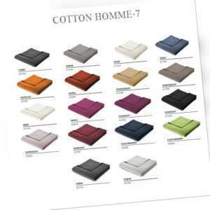 Biederlack Cotton-Home Wohndecke 150 x 200 cm Farbauswahl