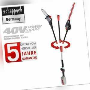 scheppach 40V Akku Hochentaster BPT700-40LI Multifunktionsgerät Heckenschere