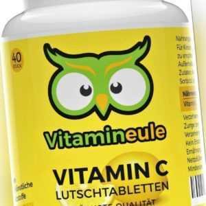Vitamin C Lutschtabletten hochdosiert - 600mg Vitamin C Tabletten - Vitamineule