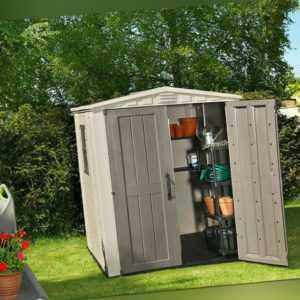 Gerätehaus KETER Factor 6x6 Gartenhaus Geräteschuppen 178x195,5x208 cm NEU