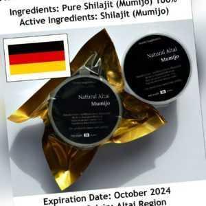 Mumijo / Shilajit | Altaisch | 50 Gramm | Rein | Mountain Drops | Zertifiziert