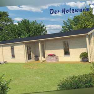 70 mm Ferienhaus ca. 1400x490 cm Blockhütte Holzhaus Gartenhaus Holzhütte Holz