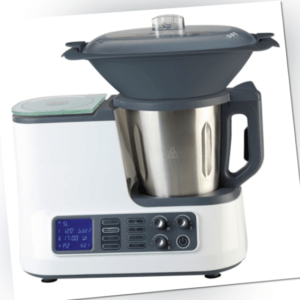 Küchenmaschine mit Kochfunktion, Waage, Dampfgaraufsatz, Garkorb WLAN +