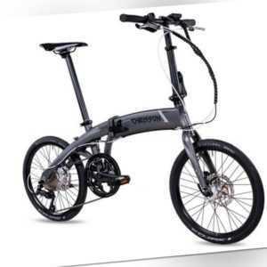 20 Zoll E-Bike Klapprad Faltrad CHRISSON EF3 9G SHIMANO SORA BAFANG 313Wh Grau
