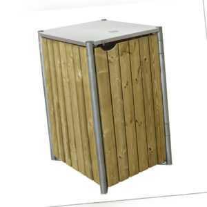 Mülltonnenbox  Mülltonnenverkleidung 1-er Box 140l Müllbox Garten Holz Hide