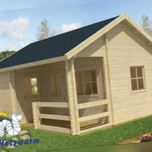 70 mm Gartenhaus 600x510cm Blockhaus Ferienhaus Holzhaus Holz Hütte Büro