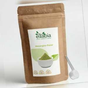 Weizengraspulver Weizengras Pulver Saft 100% ohne Zusätze eltabia
