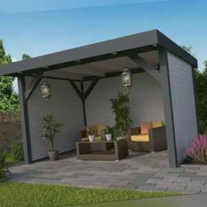 28 mm Pavillon 400x300 cm Gartenhaus Schuppen Holz Pavillion Unterstand Holzhaus