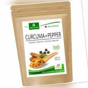 MoriVeda® Curcuma + Pfeffer Extrakt Kapseln 6 Monatspackung   95% Curcumin