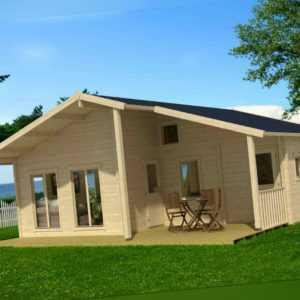 70 mm Ferienhaus 800x750 cm + Terrasse Gartenhaus Blockhaus Holzhaus Holz Neu