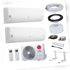 LG Multisplit Duo Klimaanlage A+++ mit WiFi 2xS12ET 3,5kW + 5 Meter Montageset
