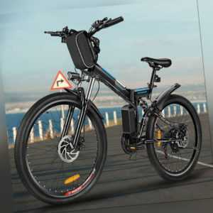 Klappbar E-BIKE 26 Zoll Elektrofahrrad Mountainbike Citybike 250W Motor Fahrrad-