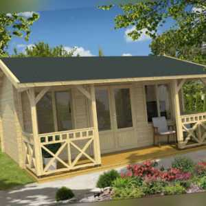 70mm Ferienhaus Staffordshire 1.1 Blockhaus 390x560 cm Holzhaus Gartenhaus Holz