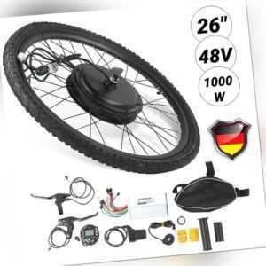 48V Vorderrad E-Bike Conversion Kit Elektrofahrrad Umbausatz für 26Zoll Rädern