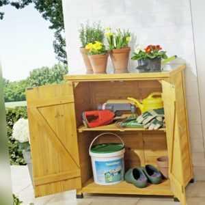 Gartenschrank und Gerätesschrank, Gartenhaus großer Pflanztisch verzinkte Fläche