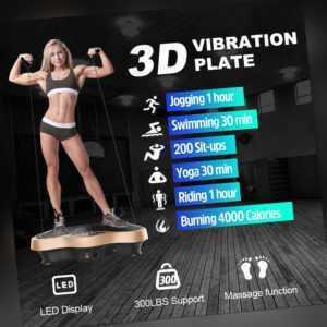 3D Vibrationsplatte Vibro Vibrationsgerät Vibrationstrainer Body Shaper LCD Neu