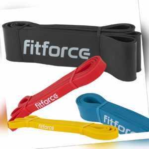 FITFORCE SET Fitnessband Widerstandsbänder Set Trainings Bänder Resistance Band