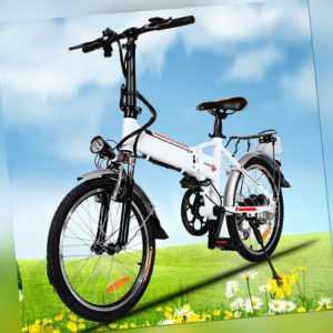 20 Zoll Elektrofahrrad Faltbares E-Bike für Erwachsene Faltrad Klapprad Unisex