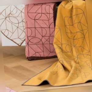 David Fussenegger Wohndecke Velvet 'Linien' 135 x 200 cm - 1126/