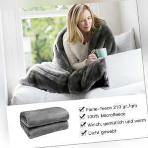 Kuscheldecke Decke Bettüberwurf 3 Größen 220x240cm Wohndecke