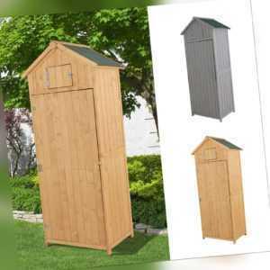 Outsunny Gartenhaus Gerätehaus Geräteschuppen mit Fachböden Asphaltdach Holz