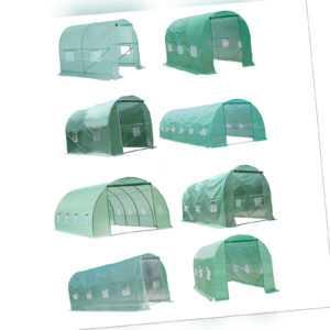 Outsunny Foliengewächshaus Gewächshaus Treibhaus Tomatenhaus mit Fenster 8 Größe