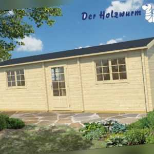 70 mm Ferienhaus ca. 844x347 cm Blockhütte Holzhaus Gartenhaus Holzhütte Holz