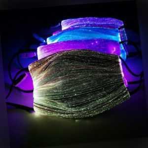 LED Light Up Gesichtsmaske 7 Farben Bling Wiederaufladbare leuchtende Maske