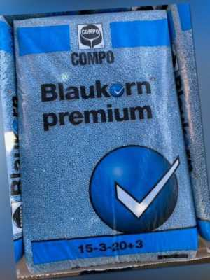 25 kg COMPO EXPERT Blaukorn Premium Volldünger Langzeitdünger Profiware NPK Blau