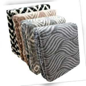 Wohndecke Luxus 200x150 Kuscheldecke warm weiche Überwurf Sofa