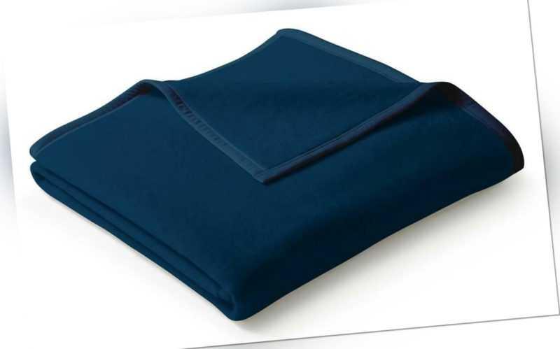 Biederlack Kuscheldecke 150x200 Veloursband-Einfassung Uno Cotton