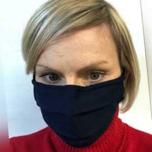 Designer Trend Mund Nasen Maske waschbare Mundbedeckung SCHWARZ