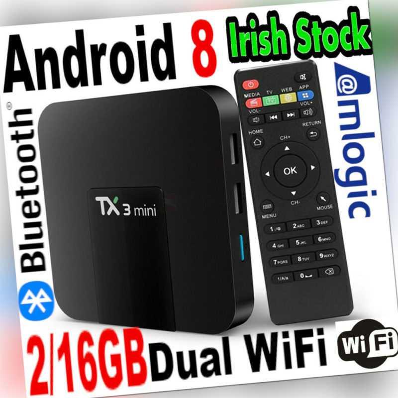 Tx3mini 2/16GB Android Box Dual Wi-Fi Bluetooth Medien Player Stream Heim Video
