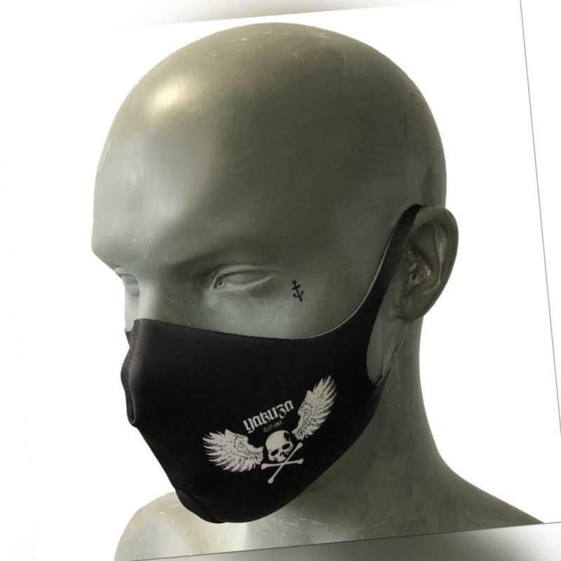 """YAKUZA - Maske/Gesichtsbedeckung BFM 17304 """"Flying Skull"""" black (schwarz)"""