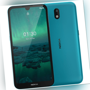 Nokia 1.3 Dual-SIM Smartphone mit 16GB Speicher, Android 10, cyan