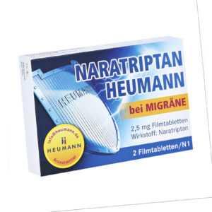 Naratriptan Heumann bei Migräne Filmtabletten, 2 St. Tabletten 9542263