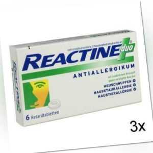 3x REACTINE duo Retardtabletten 6 St PZN: 7387580