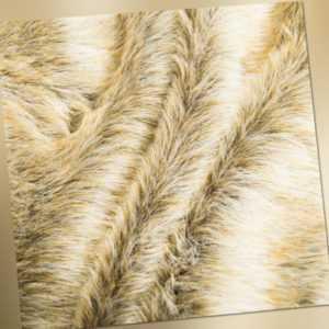 Tierfell Imitat beige braun | 1000g / m | Mantel Kragen Mode