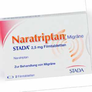 Naratriptan Migräne STADA 2,5 mg Filmtabletten, 2 St. Tabletten 9391930