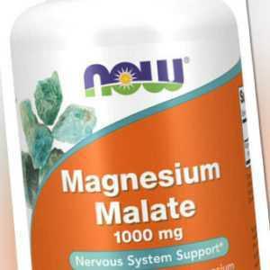 Now Foods, Magnesium Malate, 1000mg, 180 Vegane Tabletten - Blitzversand