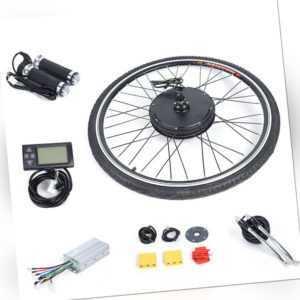 E-Bike Elektro-Fahrrad Umbausatz Vorderrad Kit 250W 500W 800W 1000W LCD 36/48V