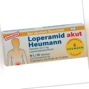 LOPERAMID akut Heumann Tabl.   10 st   PZN4633535