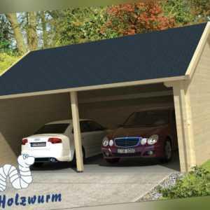 70mm Garage 600x600cm Garage Holz Einzelcarport Unterstand Haus Carport Schuppen