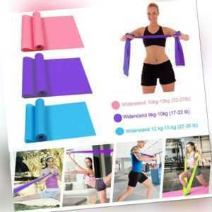 3er-Set Fitnessbänder Theraband Gummiband Terra-Band Gymnastik-Band Yoga Band