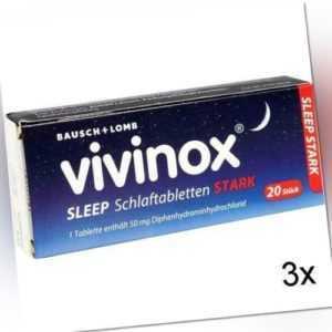 3x VIVINOX Sleep Schlaftabletten stark 20 St PZN: 2083906